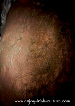 Neolithic art at Newgrange passage tomb, County Meath, Ireland.