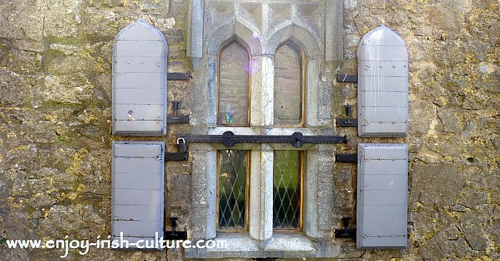 15th century window at the Hall of the Vicar's Choral at the Rock of Cashel, County Tipperary, Ireland.