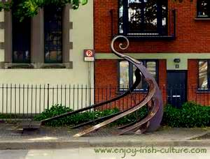 Monuments to the Vikings in Dublin, Ireland.