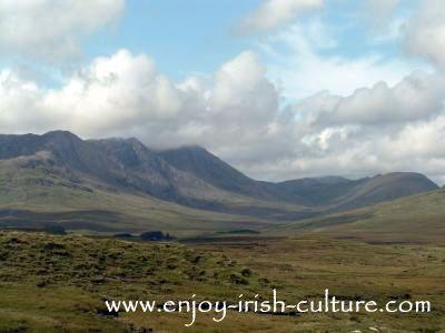 Connemara hills, County Galway, Ireland.