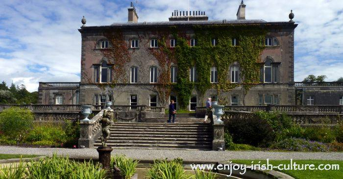 Westport House,a Palladian style residence at Westport, County Mayo, Ireland, now surrounded by an adventure park.