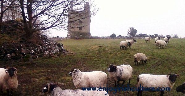 Kinlough Castle near Headford, County Galway, Ireland.