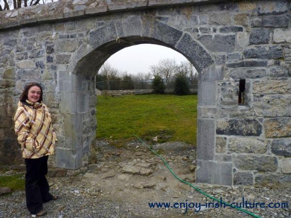 Irish castle, Annaghdown, County Galway, bawn gate.