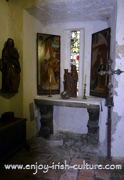 One of the two chapels at Bunratty Castle, County Clare, Ireland.