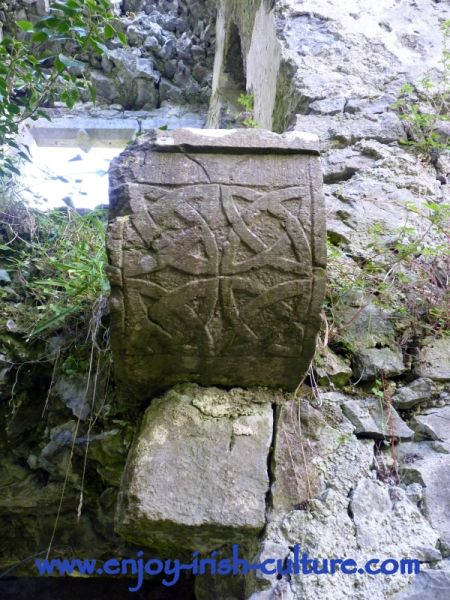 Knotwork at Castle Hackett, County Galway, Ireland.