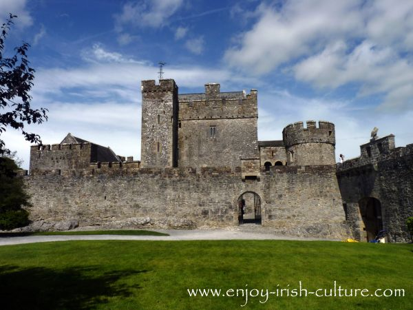Inside the curtain wall at Cahir Castle, County Tipperary, one of the best preserved medieval castles in Ireland.