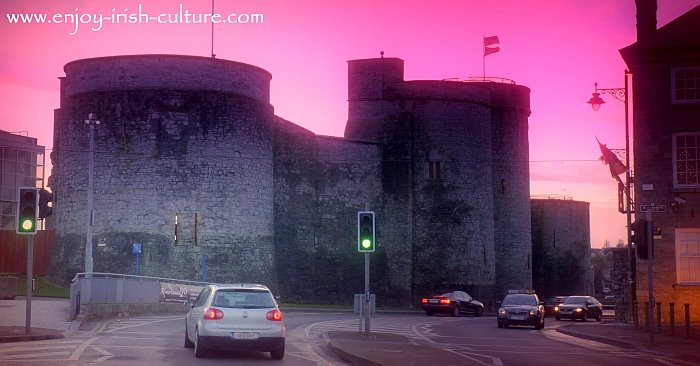 Limerick Castle (King John's Castle), an early Norman castle in Ireland.