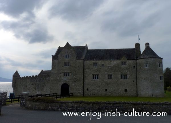Parke's Castle is a 17th century Irish castle in County Leitrim, Ireland, seen here from the road.