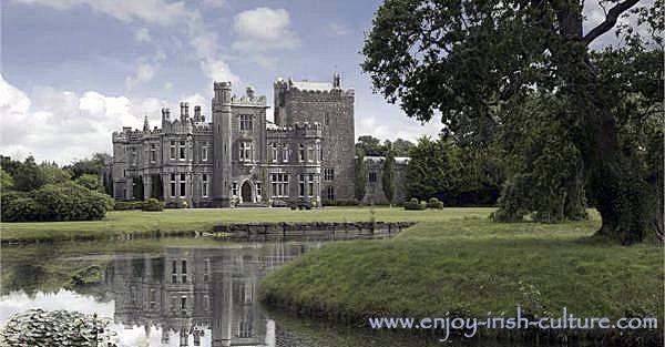Tulira Castle, County Galway, Ireland, a  revival castle.