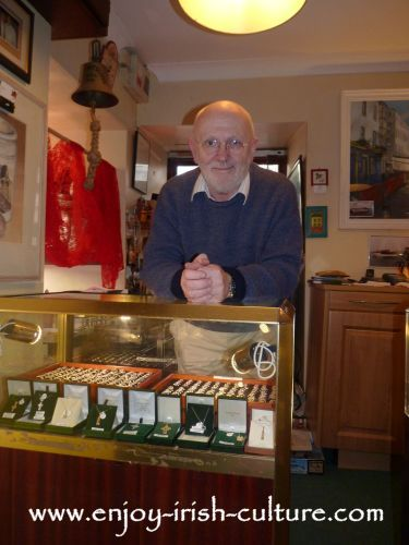 Jonathan Margetts, owner of the original Claddagh ring shop in Galway, Ireland.