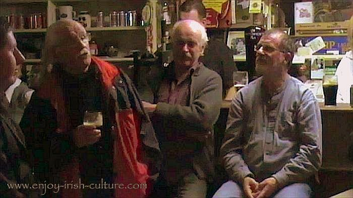Traditional Irish song session at Gort, County Galway, autumn of 2013.