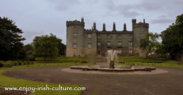 Kilkenny Castle, Ireland, seen from the gardens