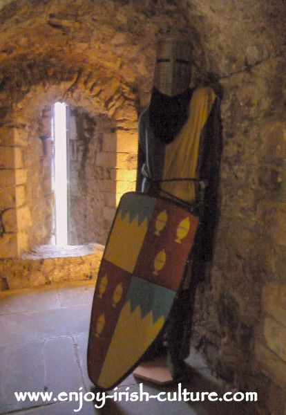 Model of a Norman knight in the medieval room at the castle.