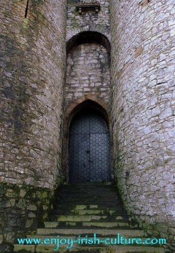 Medieval gate at King John's Castle, Limerick, Ireland.