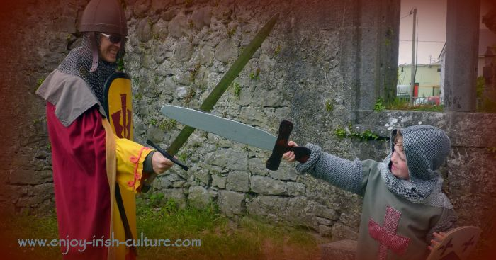 Irish history comes to life at the Athenry Heritage Centre, County Galway, Ireland, with medieval style dress up and archery.