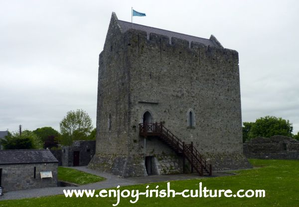 Medieval IrelOne of the earliest medieval Irish castles west of the Shannon, Athenry Castle built in 1235.and at Athenry Castle