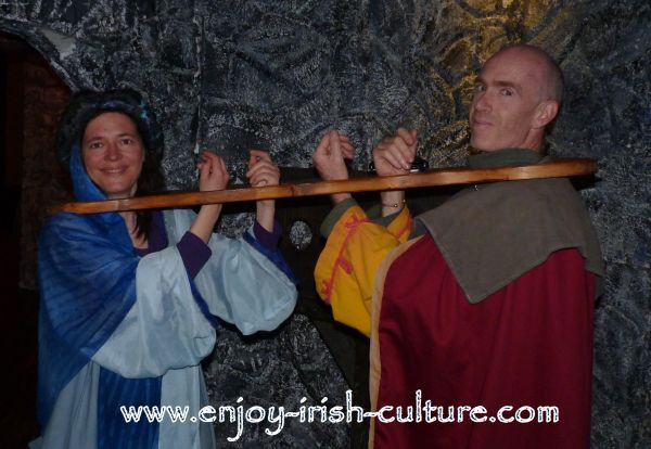 Irish history comes to life at the Athenry Heritage Centre, County Galway, Ireland, with medieval dress up.