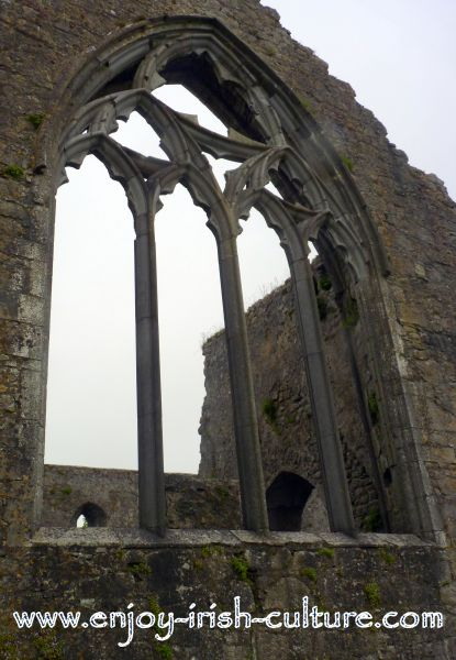 The ruin of the Dominican Priory at the medieval Irish heritage town of Athenry, County Galway, Ireland.
