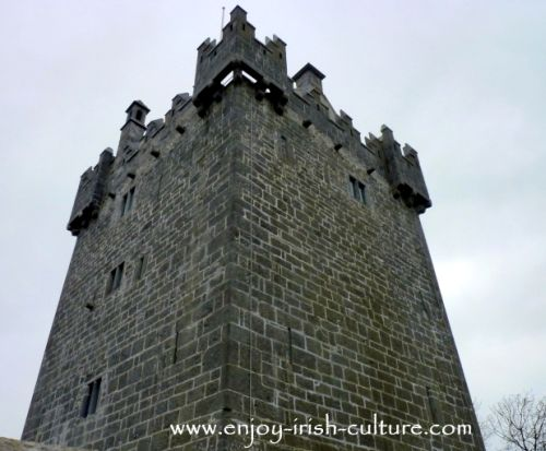 The Irish castle at Annaghdown, County Galway, Ireland.