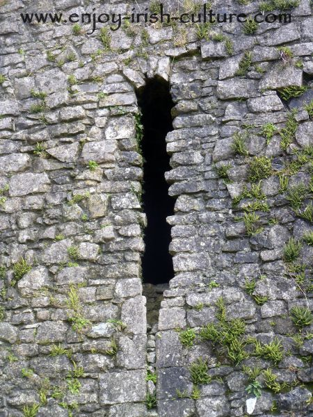 Arrow loop at the castle at Roscommon, Ireland.