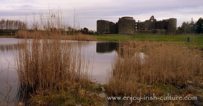 The castle at Roscommon town, Ireland, seen from the town park.
