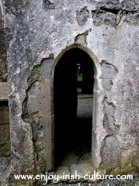 Narrow doorway at Ross Errilly Friary.