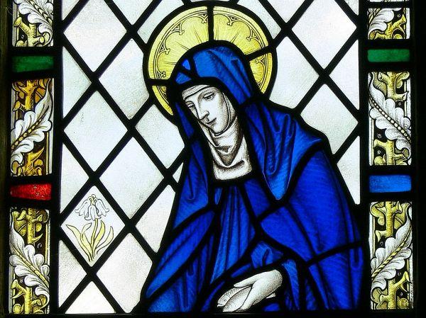 Stain glass window at St. Bridget church Killester