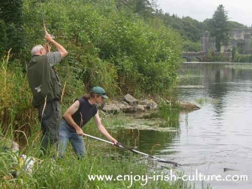 Fishing at Cong, County Mayo, Ireland.
