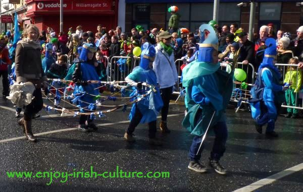 St Paddy's Day Parade Galway 2013, historic knights.