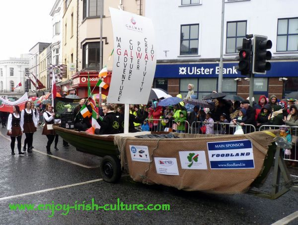 St Paddy's Day Parade Galway 2013, a boat for Galway