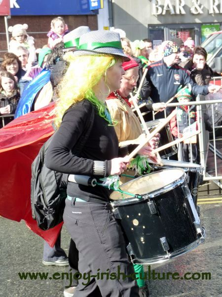 St Paddy's Day Parade Galway 2013, drummer