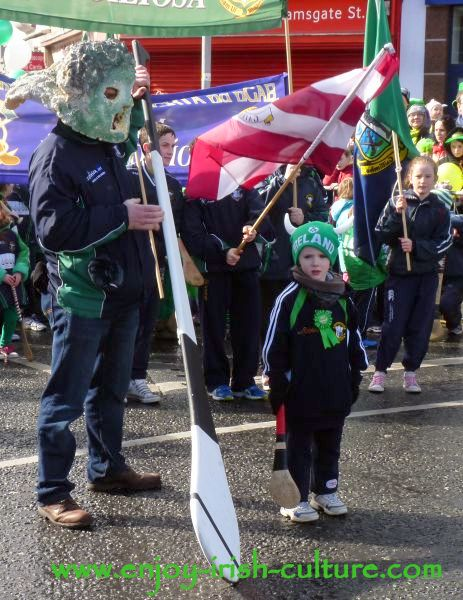 St Paddy's Day Parade Galway 2013, hurling club