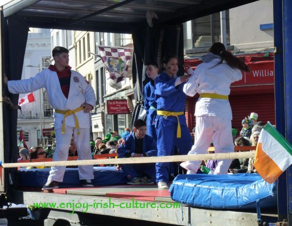 St Paddy's Day Parade Galway 2013, judo club float