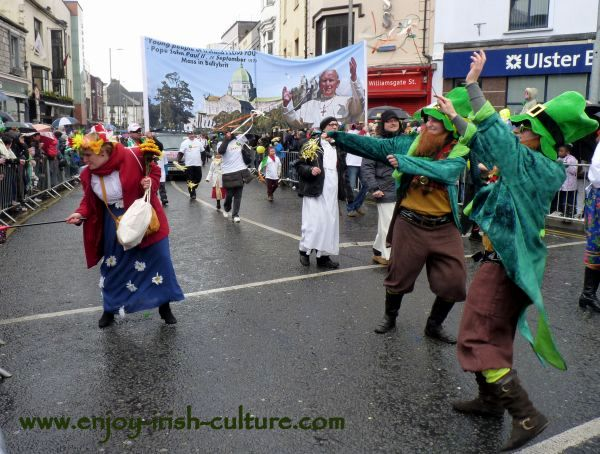St Paddy's Day Parade Galway 2013, street artists