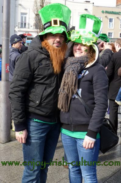 St Paddy's Day in Galway, cute pair