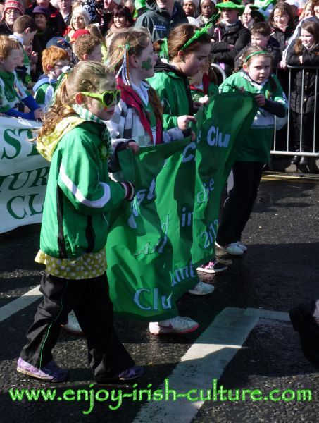 St Paddy's Day in Galway, children