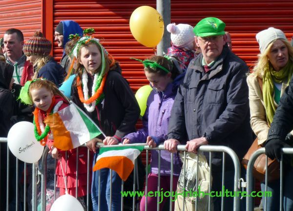 St Paddy's Day in Galway, families