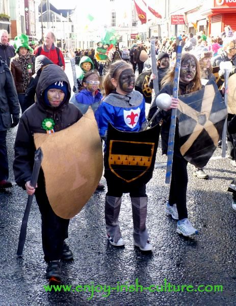 St Paddy's Day in Galway, Norman knights