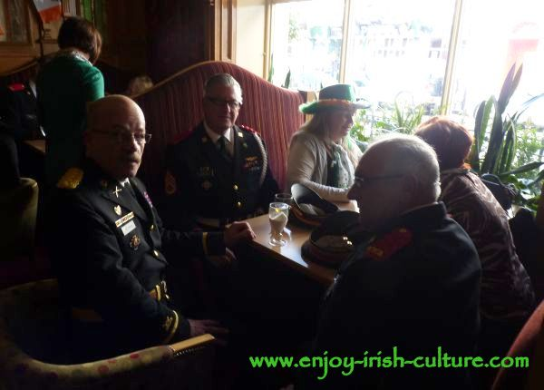 St Paddy's Day in Galway, celebrations at Park House after the parade