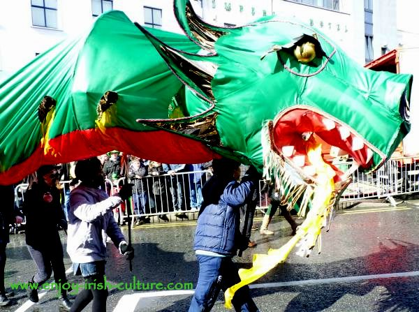 Paddy's Day in Galway, Ireland-dragon