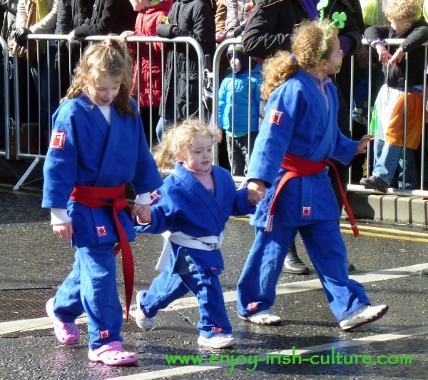 Paddy's Day in Galway, Ireland- judo girls