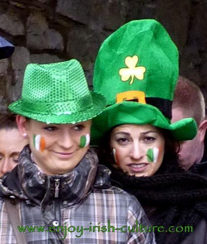 Paddy's Day in Galway, Ireland- revellers.