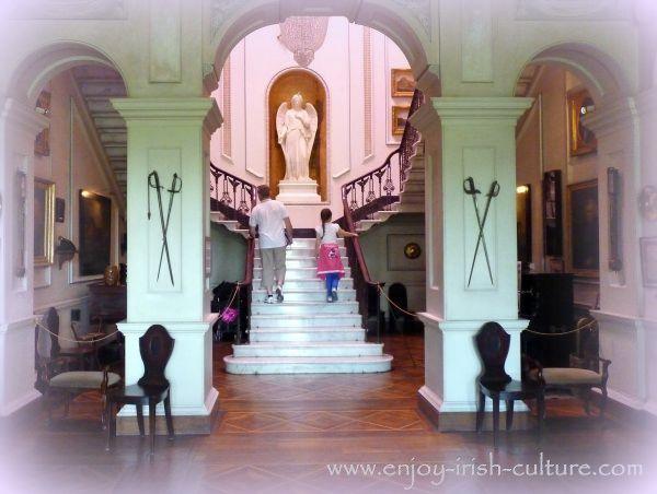 Entrance hall of the Irish big house.