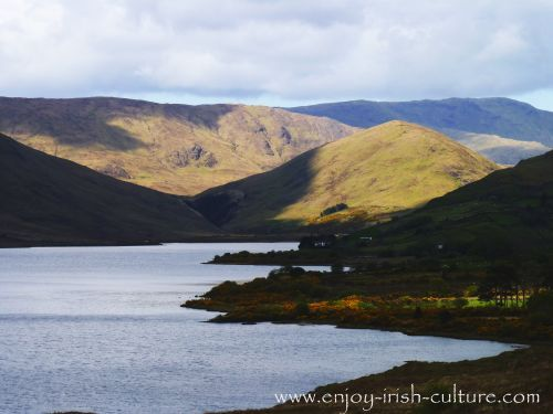 Lough Nafooey, County Mayo, Ireland, is a great pike fishing spot.
