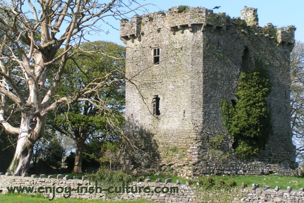 The ruin of Shrule castle, a medieval castle in Ireland in County Mayo.