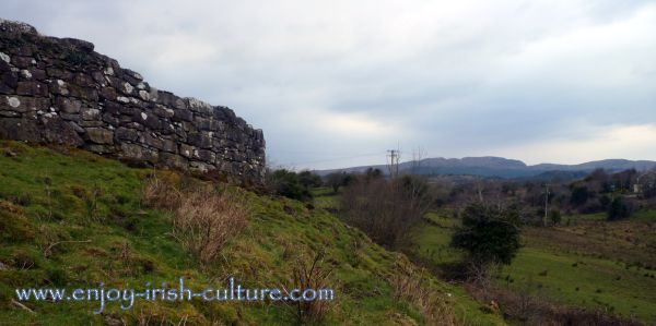 Cashelore stone fort, County Leitrim, Ireland offering beautiful views of the Ox Mountains.