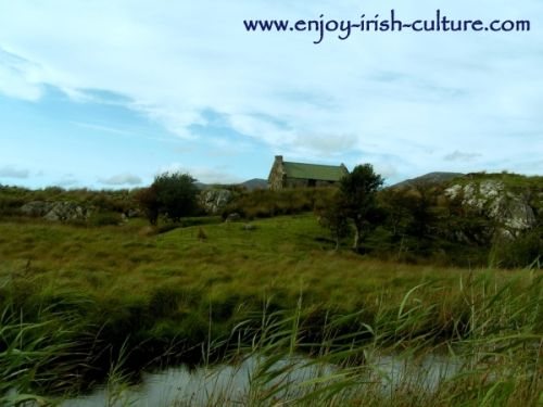 Irish Song Lyrics, Connemara Landscape, the setting of  Amhrán Mhuighinse