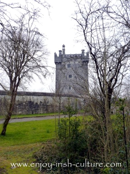 Castle at Annaghdown, County Galway, Ireland.