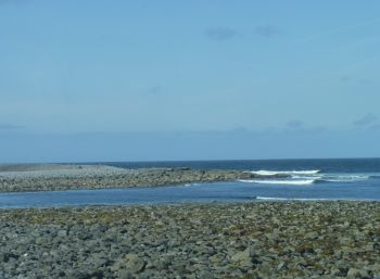 Aran Islands, Ins Mór, rocks and sea, North coast.