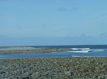 Aran Islands, Ins Mór, rocks and sea, North coast.